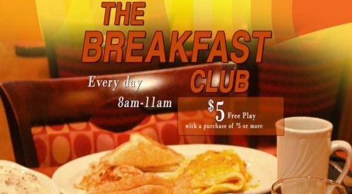Breakfast Club Free Play With Meal Purchase